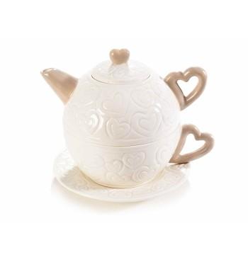 Filtre thé ou tisanes en métal avec chat en resine